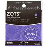 "Thermoweb Zots Clear Adhesive Dots -Small 3/16""X1/64"" Thick 300/Pkg"