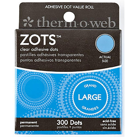 "Thermoweb Zots Clear Adhesive Dots - Large 1/2""X1/64"" Thick 300/Pkg"