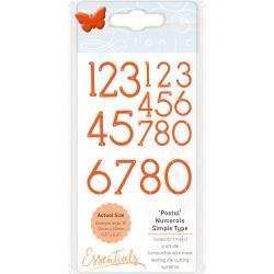 Tonic Studios Essentials Simple Type Dies Postal Font Numerals