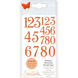Tonic Studios Essentials Simple Type Dies Windsor Font Numberals