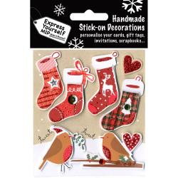 Express Yourself MIP 3D Stickers 4 Stockings & 2 Robins