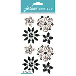 Jolee's Boutique Dimensional Stickers Bling Flowers
