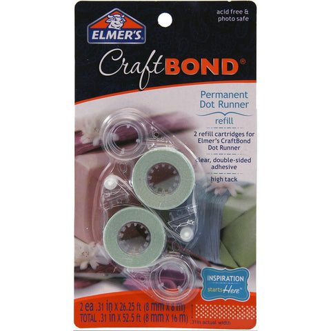 Elmers CraftBond® Permanent Dot Refills 2/Pkg .31X315 For Dot Runner E4010