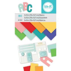 "We R Memory Keepers Paper Pad 3""X5"" Multi-Color, 80/Pkg"