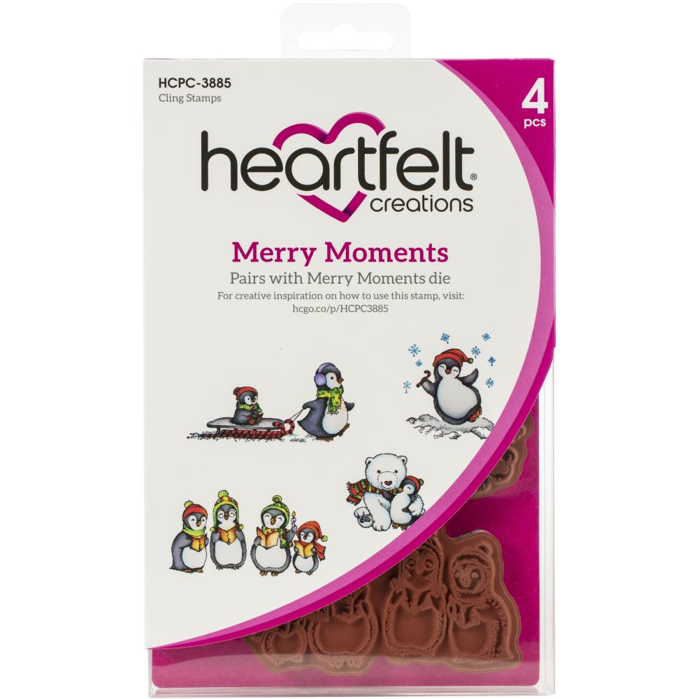 Heartfelt Creations Cling Rubber Stamp Set Merry Moments