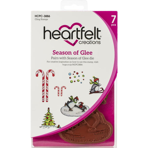 Heartfelt Creations Cling Rubber Stamp Set Season Of Glee