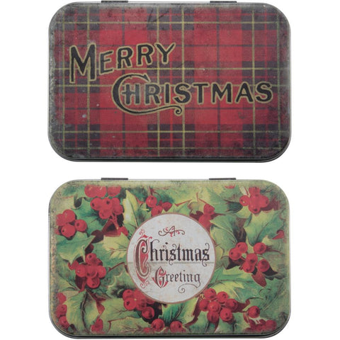 Idea-Ology Metal Trinket Tins 2/Pkg Christmas