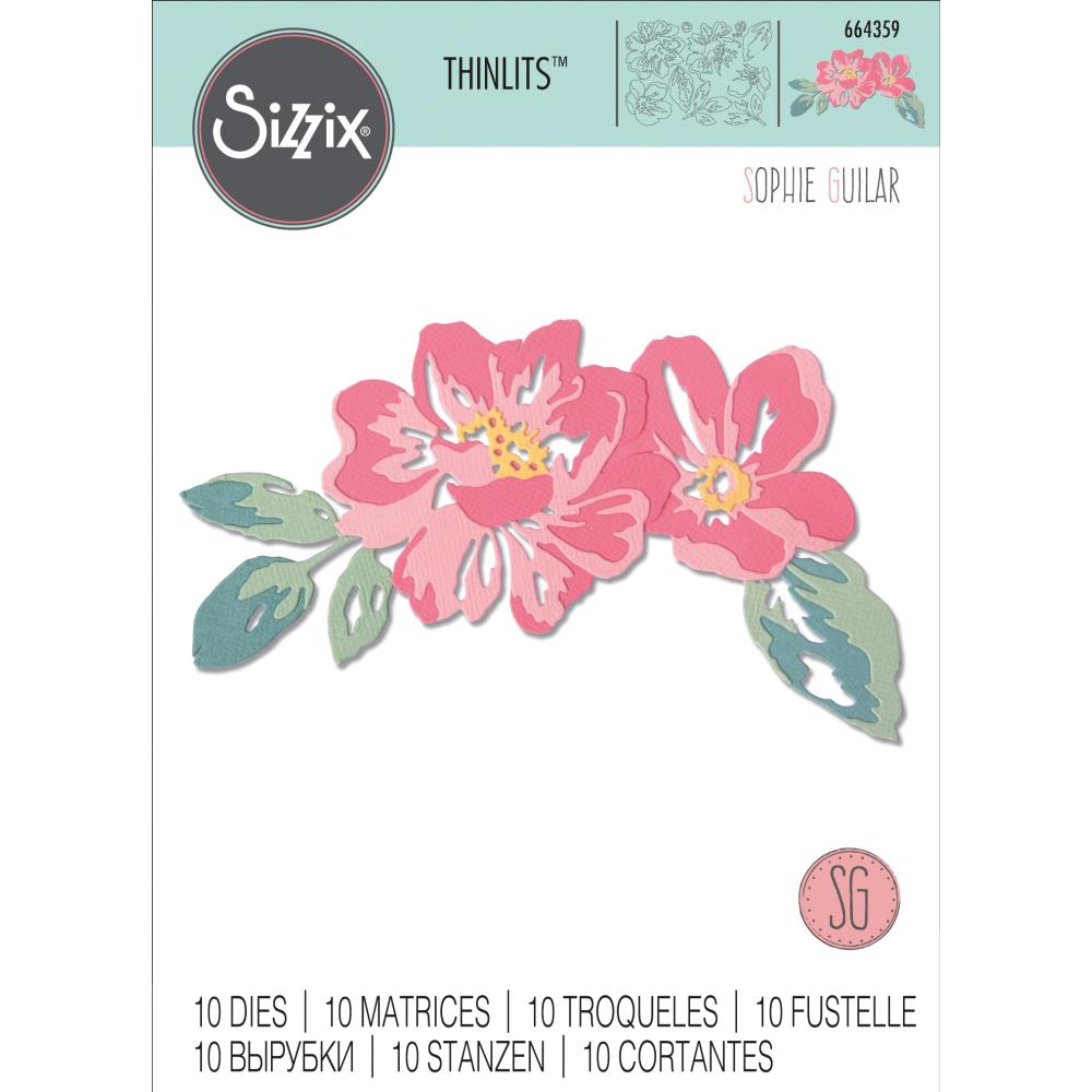 Sizzix Thinlits Dies Floral Layers by Sophie Guilar