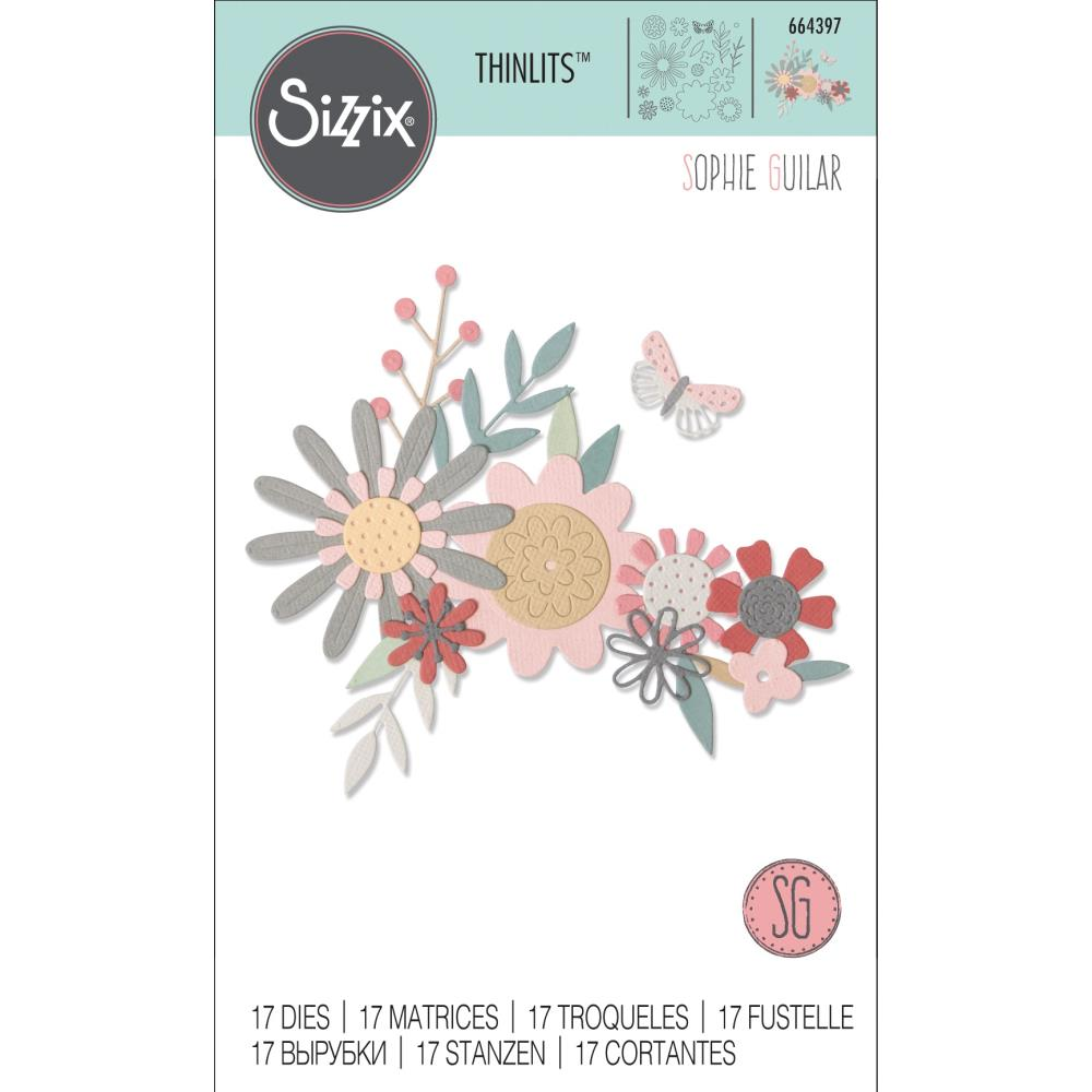 Sizzix Thinlits Dies Bold Flora by Sophie Guilar