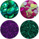 Nuvo Pure Sheen Glitter, Sequence & Confetti 4/Pkg Tropical Paradise