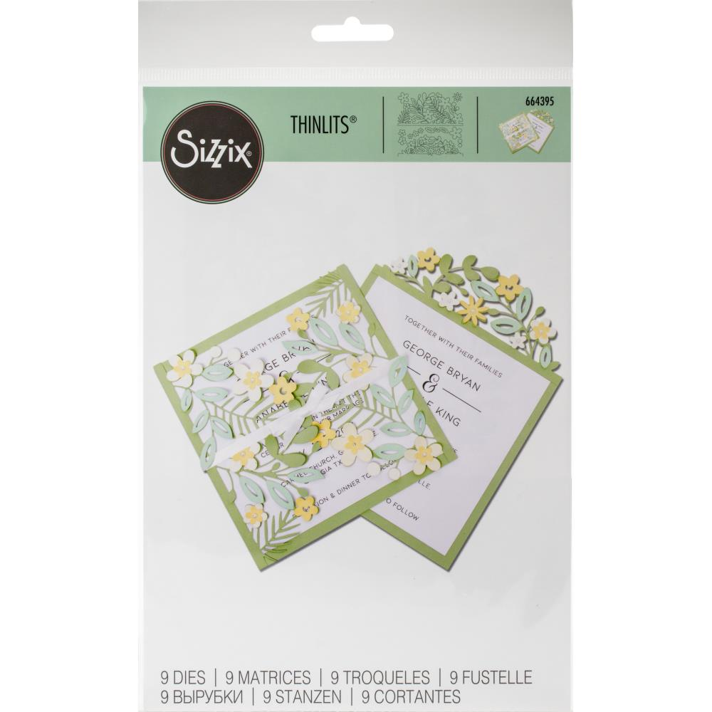 Sizzix Thinlits Dies Floral Edges #2