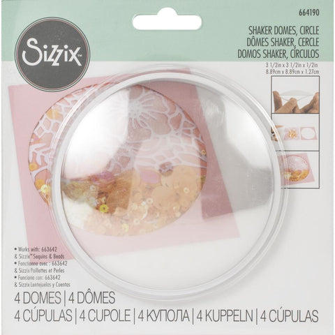 Sizzix Making Essentials Shaker Domes Circle 3.5, 4/Pkg