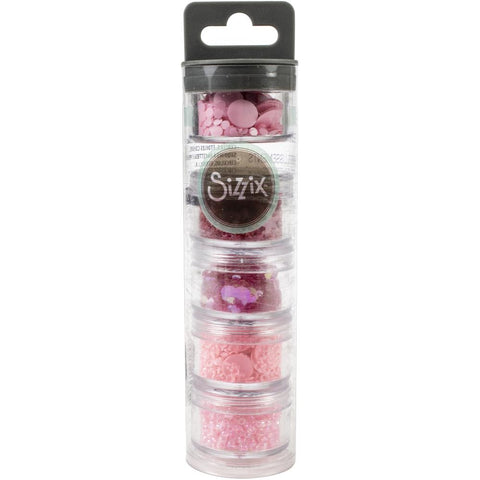 Sizzix Making Essential Sequins & Beads, Primrose, 5g per Pot, 5PK