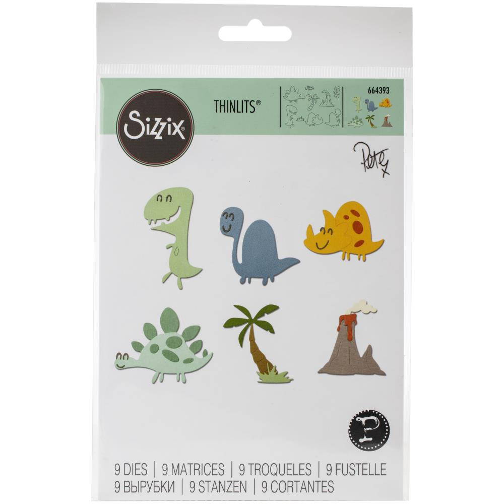 Sizzix Thinlits Dies Dinosaurs by Pete Hughes