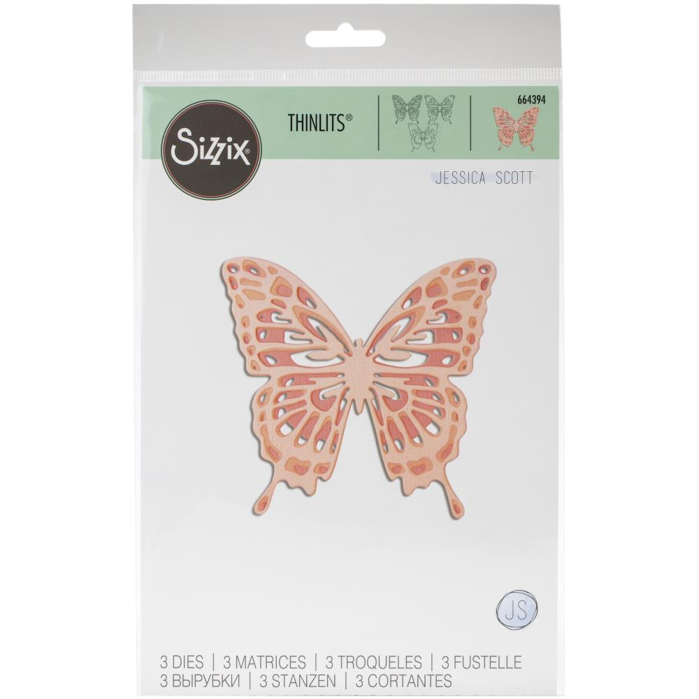 Sizzix Thinlits Dies Intricate Wings by Jessica Scott
