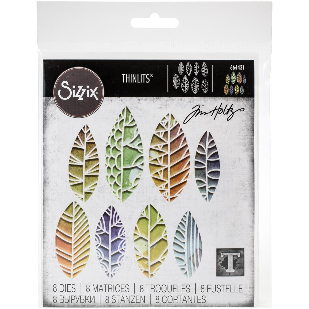 Sizzix Thinlits Dies Cut Out Leaves by Tim Holtz