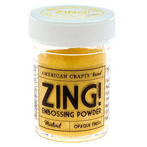 American Crafts 1Oz Zing Embossing Powder - Mustard