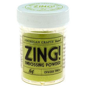 American Crafts 1Oz Zing Embossing Powder - Leaf