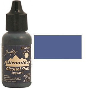 Adirondack Alcohol Ink .5 Ounce -  Earthtones -  Eggplant