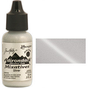 Adirondack Alcohol Ink .5 Ounce -  Mixatives Silver