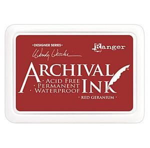 RED GERANI-ARCHIVAL INK PADS