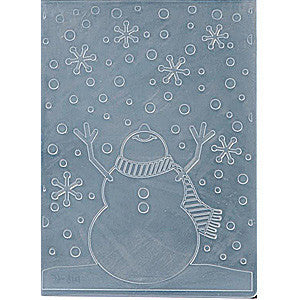 Darice Embossing Folder 4.25X5.75 Inches - Snowman Arms Up