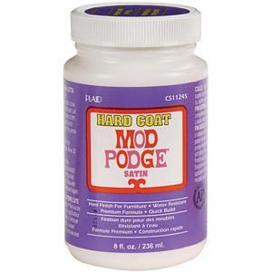 Mod Podge-8 Ounces Of Hard Coat Satin Mod Podge.