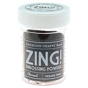 American Crafts 1Oz Zing Embossing Powder - Charcoal