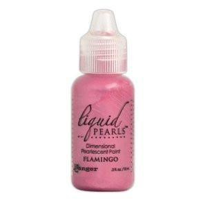 Ranger Liquid Pearls Paint - .05Oz Bottle - Flamingo
