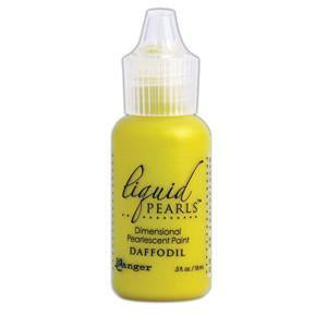Ranger Liquid Pearls Paint - .05Oz Bottle - Daffodil