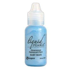 Ranger Liquid Pearls Paint - .05Oz Bottle - Baby Blue
