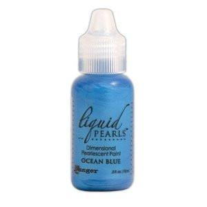 Ranger Liquid Pearls Paint - .05Oz Bottle - Ocean Blue