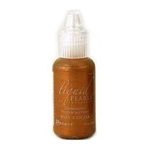 Ranger Liquid Pearls Paint - .05Oz Bottle - Hot Cocoa