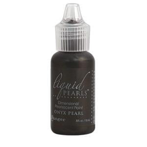 Ranger Liquid Pearls Paint - .05Oz Bottle - Onyx Pearl
