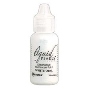 Ranger Liquid Pearls Paint - .05Oz Bottle - White Opal