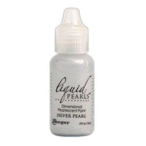 Ranger Liquid Pearls Paint - .05Oz Bottle - Silver Pearl