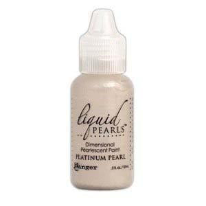 Ranger Liquid Pearls Paint - .05Oz Bottle - Platinum Pearl