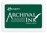 Ranger Archival  Stamp Pads - Library Green