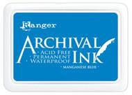 Ranger Archival  Stamp Pads - Manganese Blue