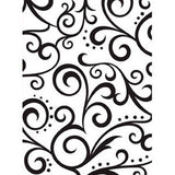 Darice - Embossing Essentials - Scroll Background