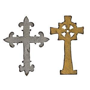 Sizzix Alterations Die - Bigz - Ornate Crosses