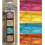 Tim Holtz/Ranger - Distress Mini Ink Pads 4 Pack - Kit 1