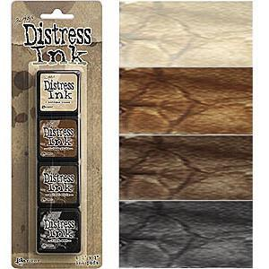 Tim Holtz/Ranger - Distress Mini Ink Pads 4 Pack - Kit 3