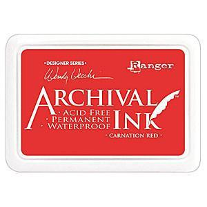 Ranger - Wendy Vecchi Designer Series Archival Ink Pad Carnation Red