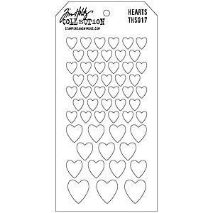 Tim Holtz Layered Stencil 4.125X8.5 Inch  Hearts