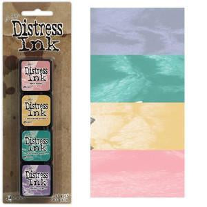 Tim Holtz/Ranger - Distress Mini Ink Pads 4 Pack - Kit 4