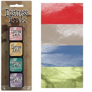 Tim Holtz/Ranger - Distress Mini Ink Pads 4 Pack - Kit 5