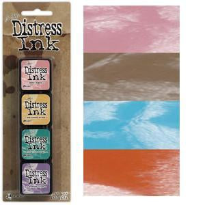 Tim Holtz/Ranger - Distress Mini Ink Pads 4 Pack - Kit 6