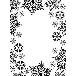 Darice - Embossing Folder - 4.25X5.75 - Snowflake Trim