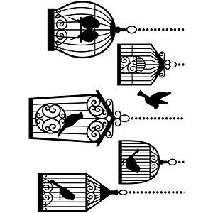 Darice - Embossing Folder - 4.25X5.75 - Birdcages
